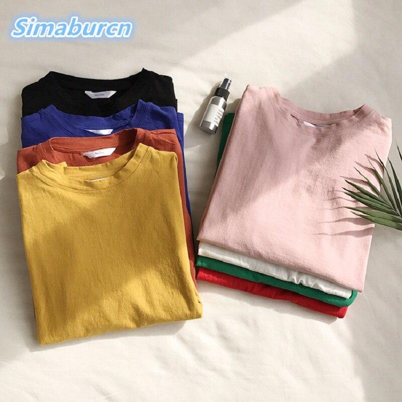 Mode Oansatz Frauen T-shirt Halbe Hülse Weiß Schwarz Baumwolle T-Shirt Multicolor Lose Eine Größe T shirt Damen Tops Sommer Frühling