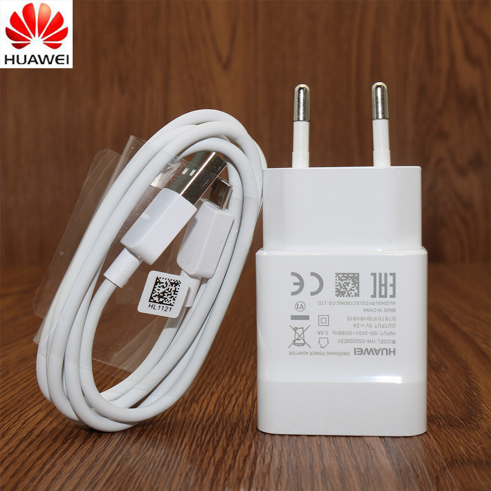 Original HUAWEI Charger Adapter 5V/2A,100CM Micro USB Data Cable For Mate 7 8 S/P7/P8 Lite 2017/P9 Lite/Honor 8 Lite/7I/6X/5c/5X-in Mobile Phone Chargers from Cellphones & Telecommunications on