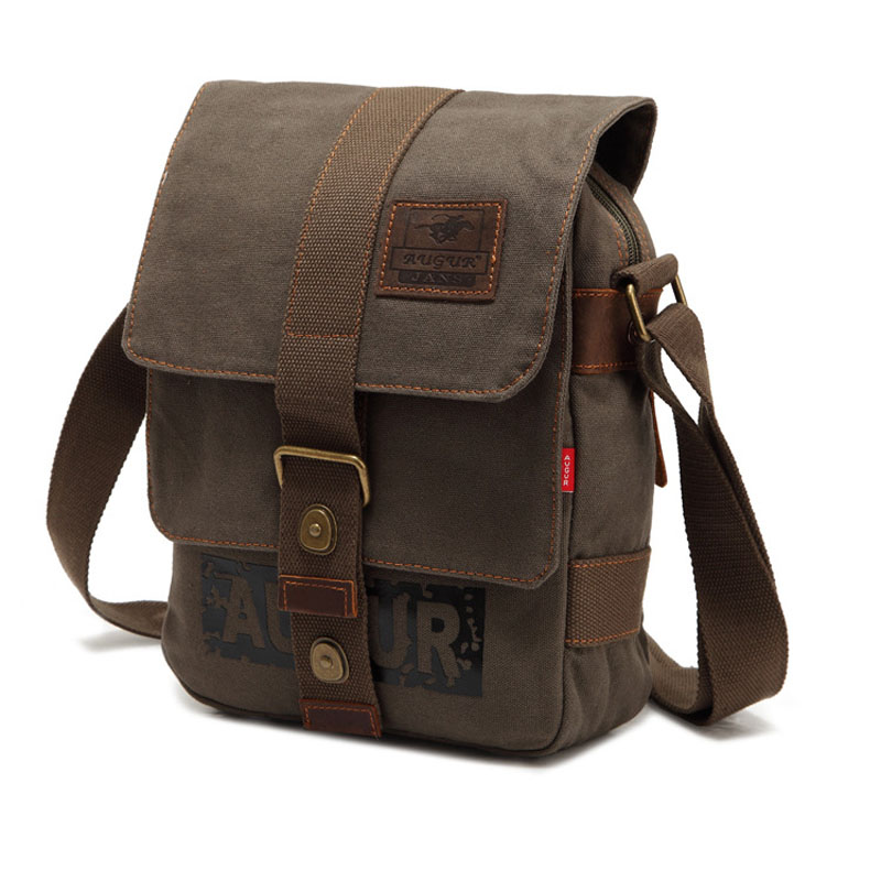 Augur Canvas Scrub Messenger Bag Women Men Casual Satchels Students Book Bag  Boys Retro Army Green Crossbody Pack Flap Pocket-in Crossbody Bags from  Luggage ... 9efacff280