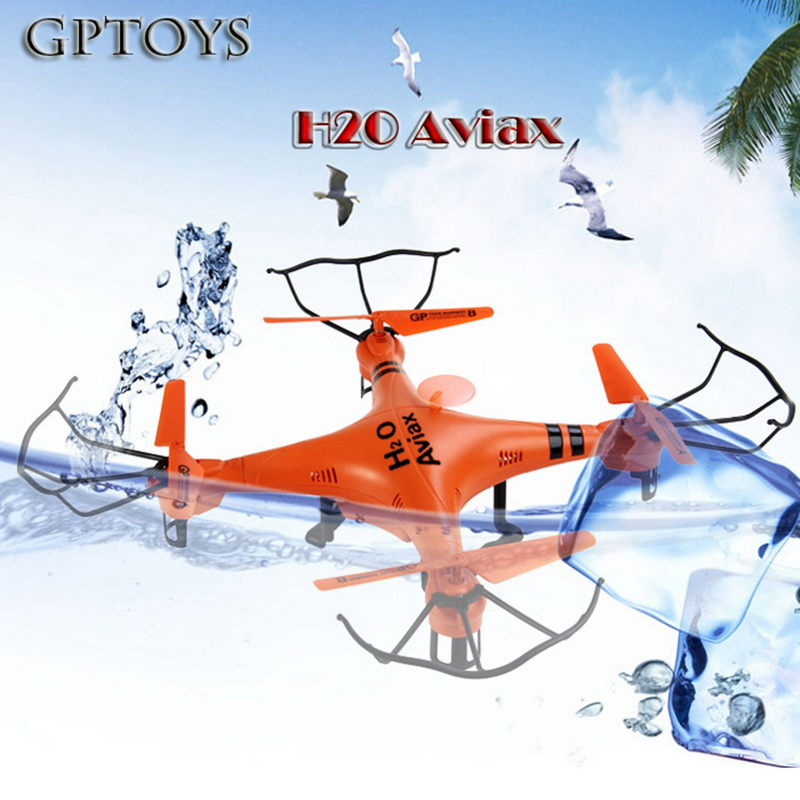 새로운 도착 gptoys h2o aviax 방수 드론 3d eversion 6 축 자이로 헤드리스 모드 2.4 ghz 4ch lcd rc quadcopter 완구-에서RC 헬리콥터부터 완구 & 취미 의  그룹 2