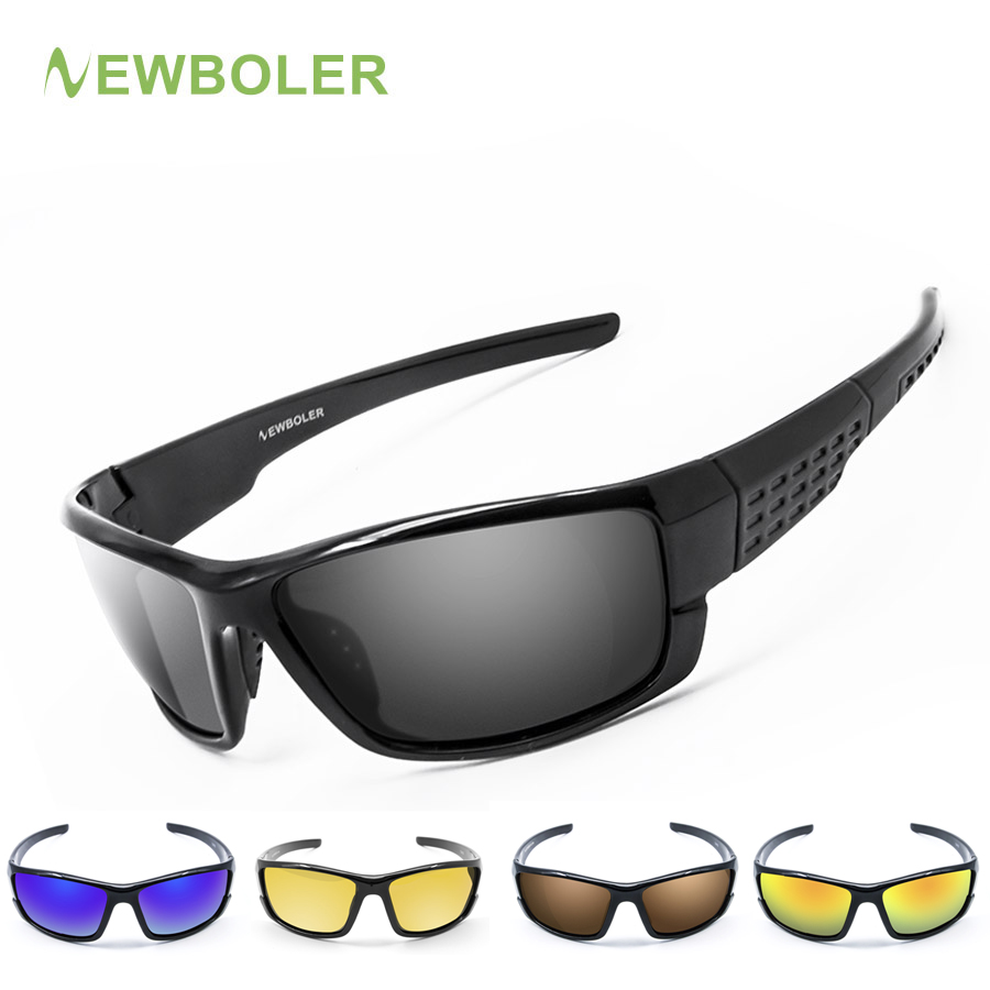 NEWBOLER Sunglasses Men Polarized Sport Fishing Sun Glasses For Men Gafas De Sol Hombre Driving Cycling Glasses Fishing Eyewear brand polarized men s sunglasses rimless sport sun glasses driving goggle eyewear for men oculos de sol masculino 3043