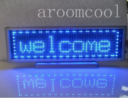 16x64 Display Programmable Message moving scrolling LED Name Badge Tag Blue programmable led digital scrolling message name tag id badge 11 44 pixels