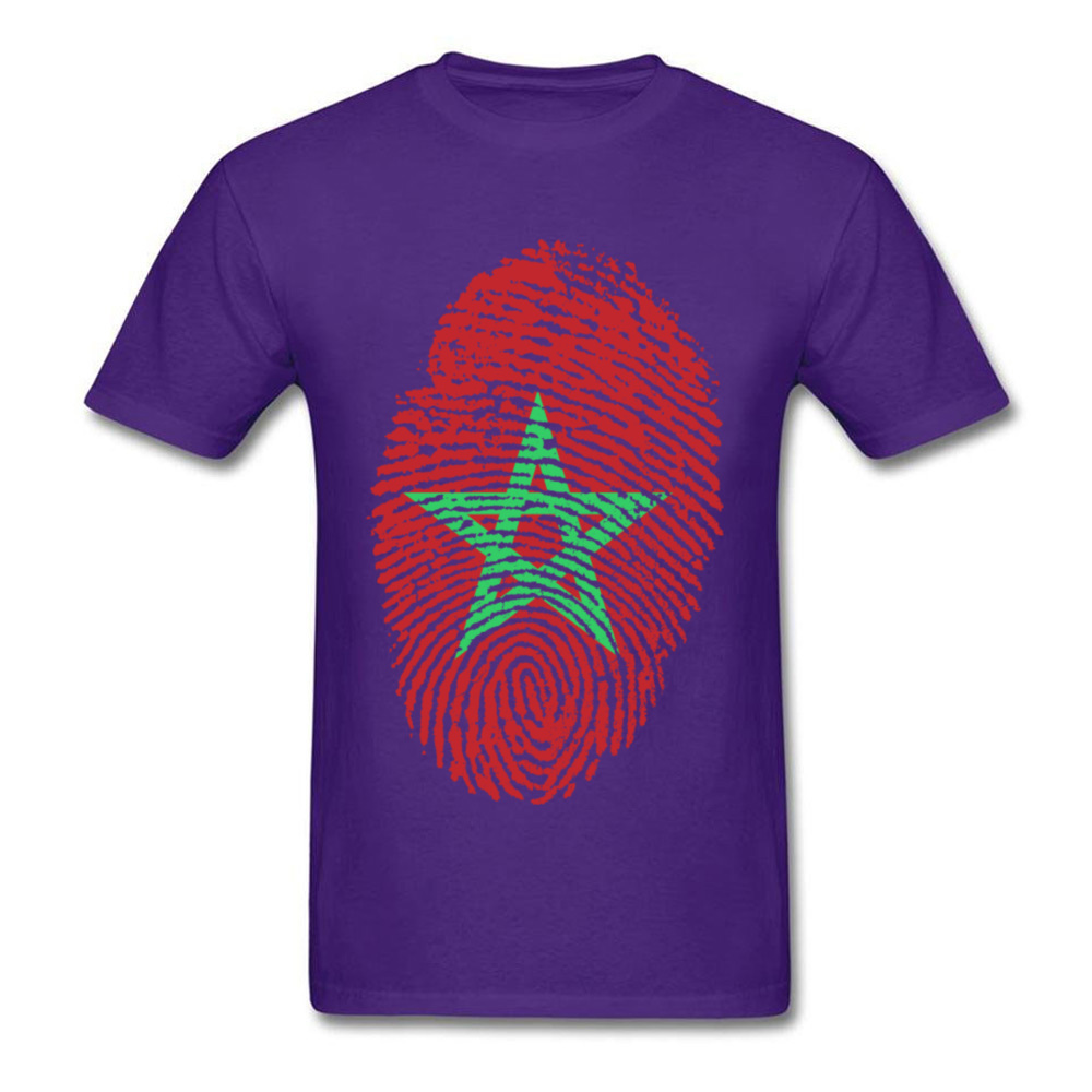 Morocco Flag Fingerprint_purple