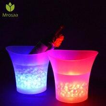 5L 7 цветов светодио дный LED RGB свет Сменные ведро льда шампанское вино напитки охладитель льда напитков пиво ведра льда вечерние бар вечерние инструменты