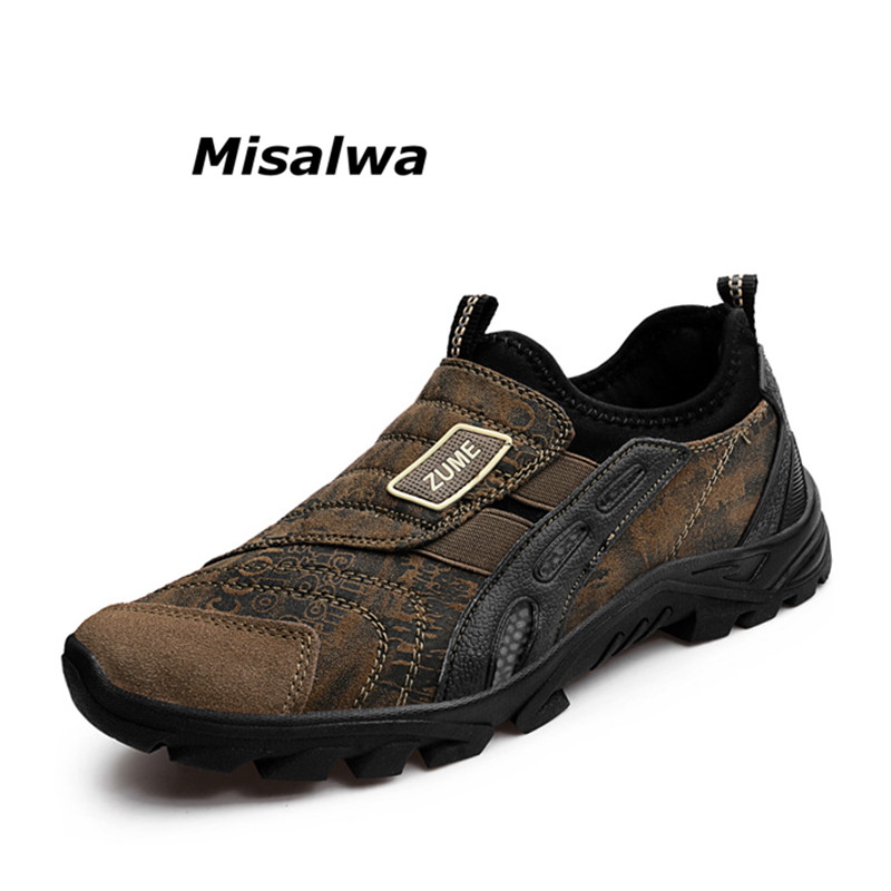 Misalwa Vente Chaude Flock Chaussures homme Marron Gris Marque Casual Chaussures Mocassins De Qualité Glisser Sur Les Hommes 2018 Nouveau Automne chaussures Livraison Gratuite