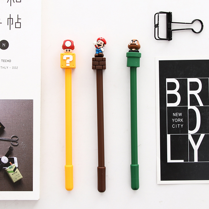 3pcs/sell Kawaii Animal 0.5mm Gel Pen Set Black Ink Cartoon 0.38mm Writing Pen Stationery Canetas Escolar School Supplies ZXB54