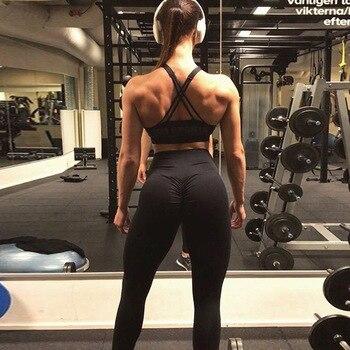 CHRLEISURE High Waist Push Up Leggings Women Activewear Workout Fitness Legging Black Leggings Jeggings  Women Clothes 2019 2
