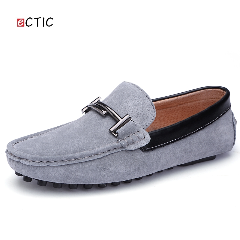 Luxury Brand Retro High Quality Vintage Urban Suede Men Loafers Shoes Breathable Horsebit Decoration Leather Driving Shoe Male suede