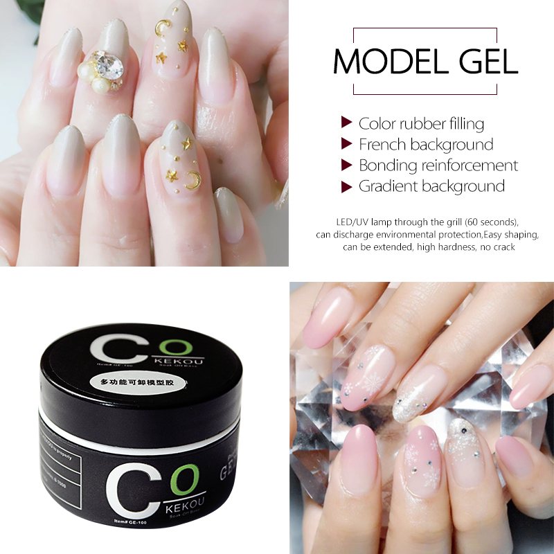 CoKEKOU 15ml Manicure 6 colors semi Clear color uv gel clear nail ...
