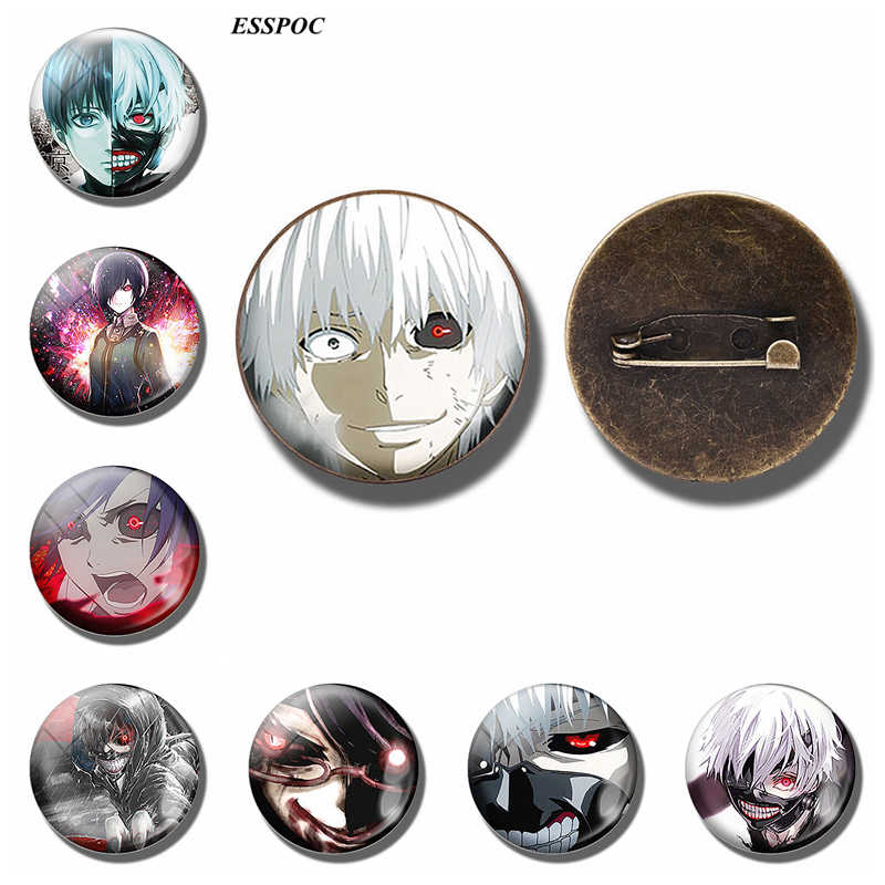 Tokyo Ghoul Badge Vintage Brons Broche Touka Kaneki Ken Rize Kamishiro Emblem Anime Broches Cosplay Gift