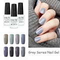 Silver Grey Series 12 Color BELLE FILLE Nail UV Gel Polish lacquer Soak off Gel Professional Kit Cosmetics vernis semi permanent