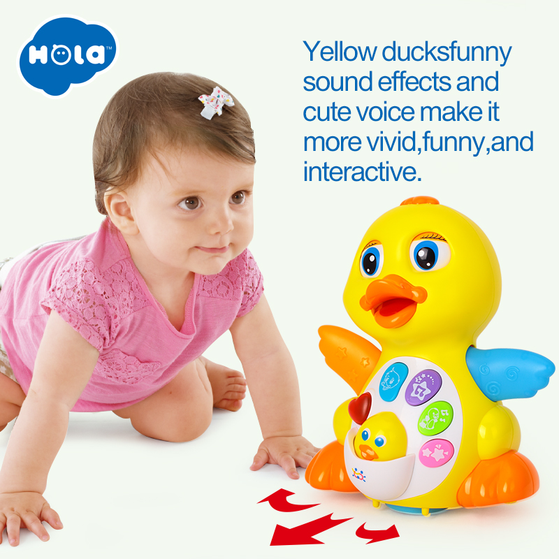 Dancing Duck Battery Operated Toy Figure Action Toy with Flashing Lights Electric Universal Musical Baby Toys 2