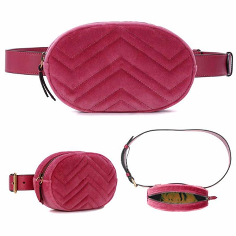 Ms Wholikes Multifunktionell Pocket Märke Lyx Läderväska Röd - Bälten väskor - Foto 5