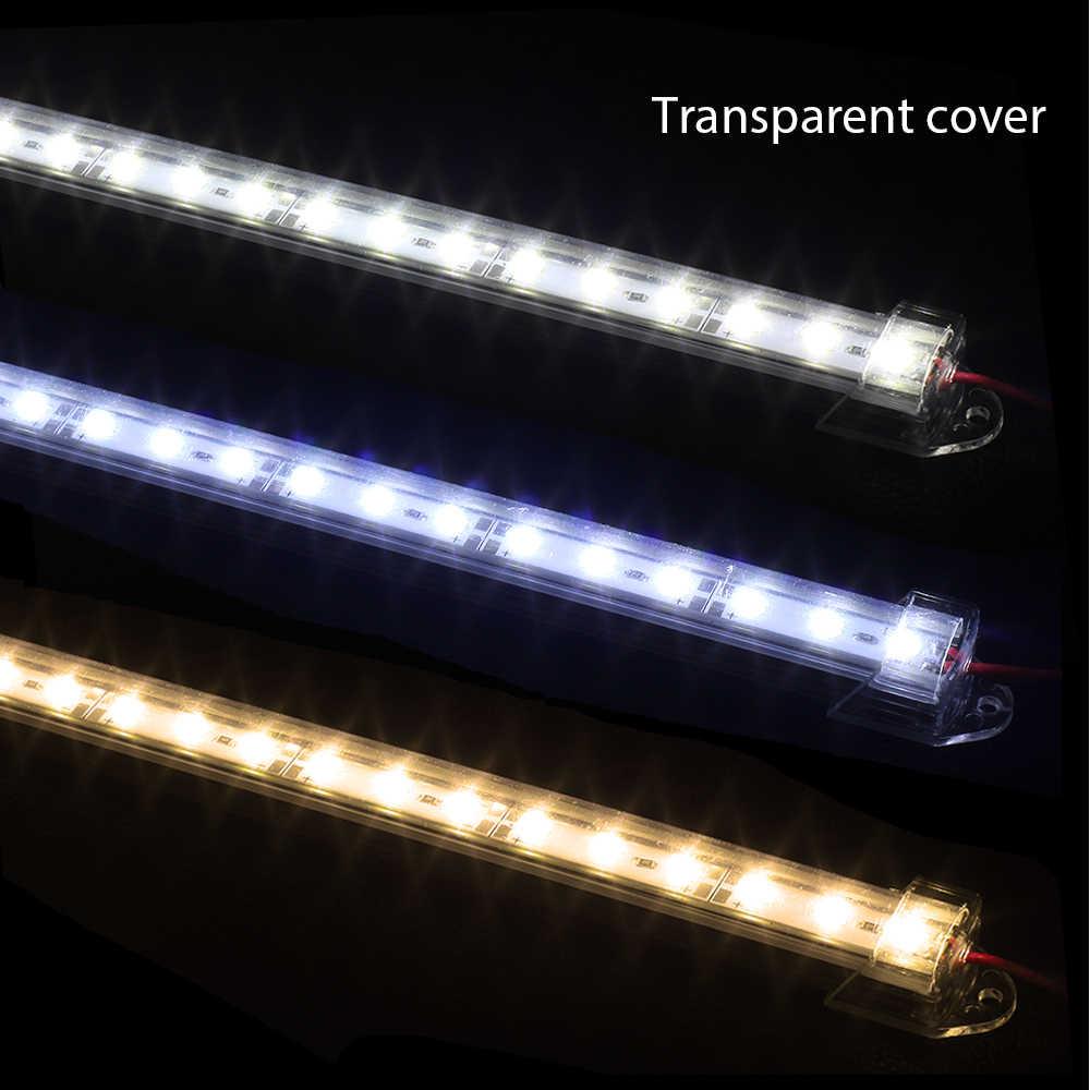 5 шт. * 50 см DC 12 V SMD 5730 5630 Светодиодная твердая лента бар свет алюминиевый корпус + светодиодная крышка для ПК бар света 5730 Cabinet Light