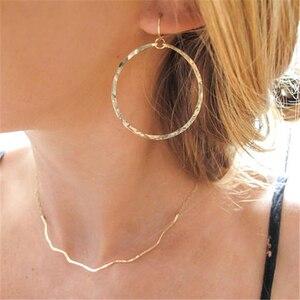 Image 1 - Женские серьги кольца ручной работы из серебра 925 пробы