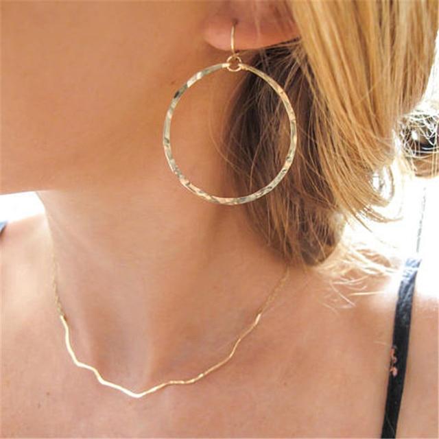 Женские серьги кольца ручной работы из серебра 925 пробы