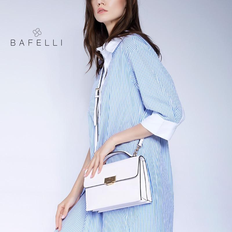 BAFELLI women split leather shoulder bag Pure color envelope for women crossbody messenger Leather handbags цена и фото