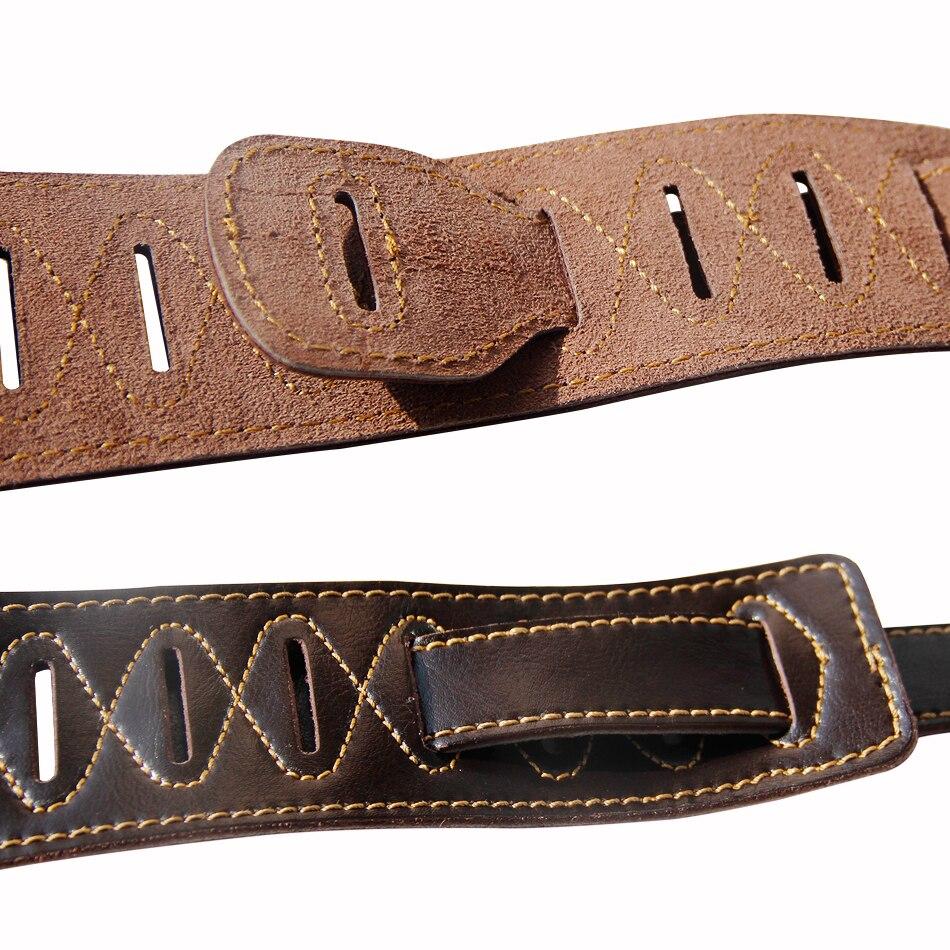 Dark Brown Leather Double Padded 100% handgemaakte guita basgitaar - Muziekinstrumenten - Foto 4