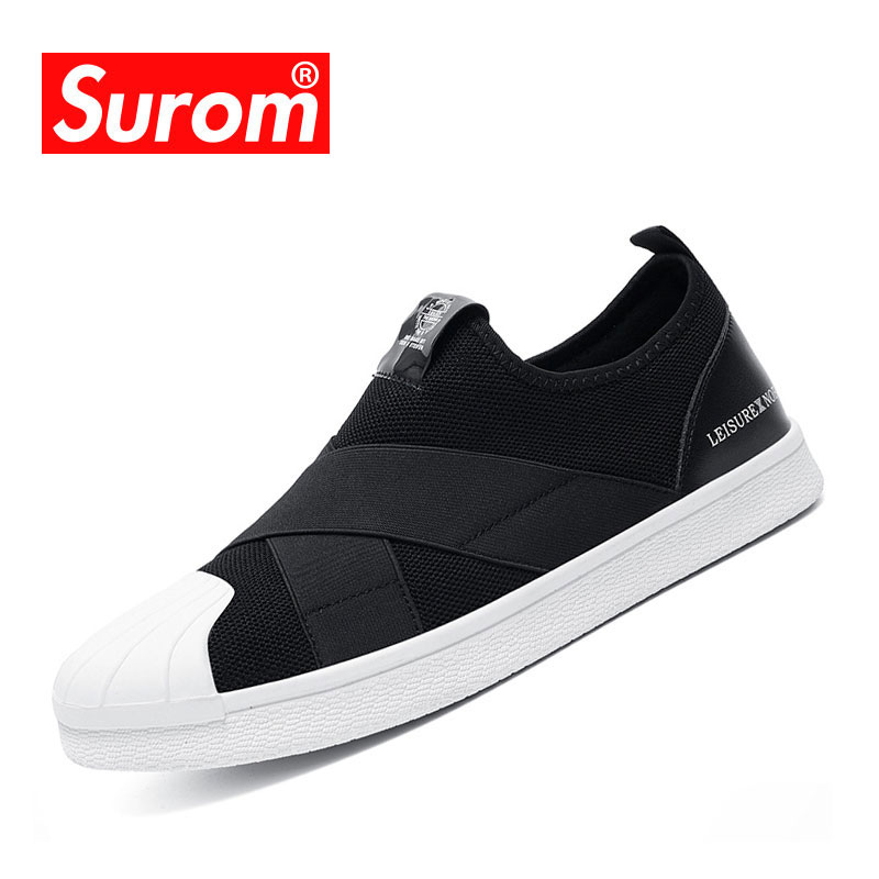 SUROM Casual Shoes For Men Slip On Breathable Shoes adulto sneakers - Men's Shoes