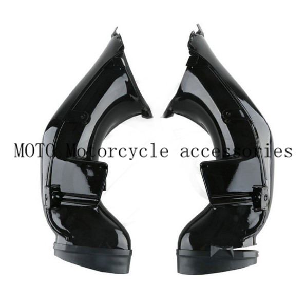 A Pair Black Ram Air Intake Tube Duct Pipe For YAMAHA YZF R1 2004-2006 2005 Motorbike Ram Air Pipe Accessories motorcycle ram air intake tube duct pipe for yamaha yzf600 r6 yzfr6 yzf600r 2006 2007 high quality abs plastic motorbike