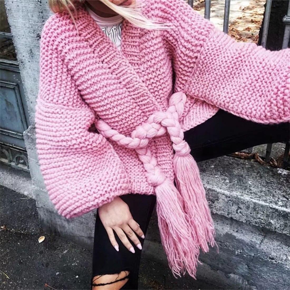 Poncho De Mano Suelto A Para Linterna Beige Cárdigan Mujer gray Ganchillo  Fajas Suéter Tejido 2018 Punto pink Otoño Manga Invierno ... b68538043b9c