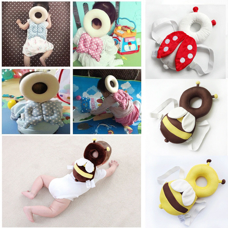 2019 Cute Baby Infant Toddler Head Back Protector Safety Pad Harness Headgear Ladybug Shape Soft High Quality