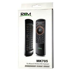 Image 5 - Rikomagic RKM MK705 2.4GHzเมาส์ไร้สาย3ใน1คีย์บอร์ดQWERTYคีย์บอร์ดIR Remote Comboแบตเตอรี่ชาร์จสำหรับsmart TV HTPC