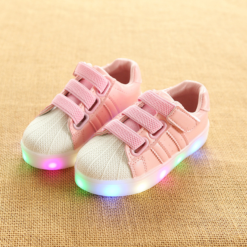 все цены на New infant tennis LED lighted children casual shoes luminous cute canvas kids sneakers sports baby boys girls shoes footwear
