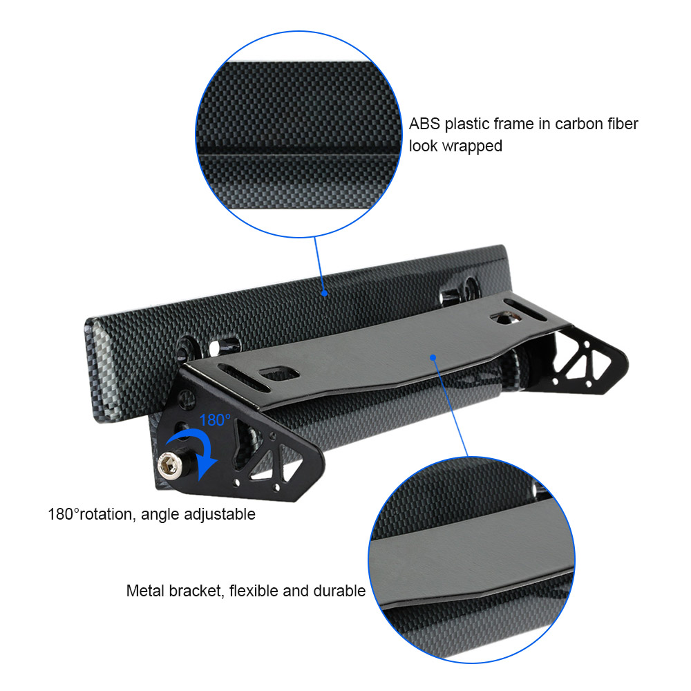Car Styling Universal Car License Plate Frame Holder Carbon Fiber Racing Number Plate Holder Adjustable Mount Bracket Accessory-in License Plate from ...  sc 1 st  AliExpress.com & Car Styling Universal Car License Plate Frame Holder Carbon Fiber ...