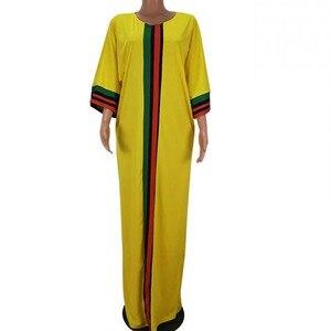 Image 2 - Robes africaines pour femmes 2019 été automne rayure imprimer mince manches longues robe Maxi nouvelle mode femmes africaines afrique vêtements