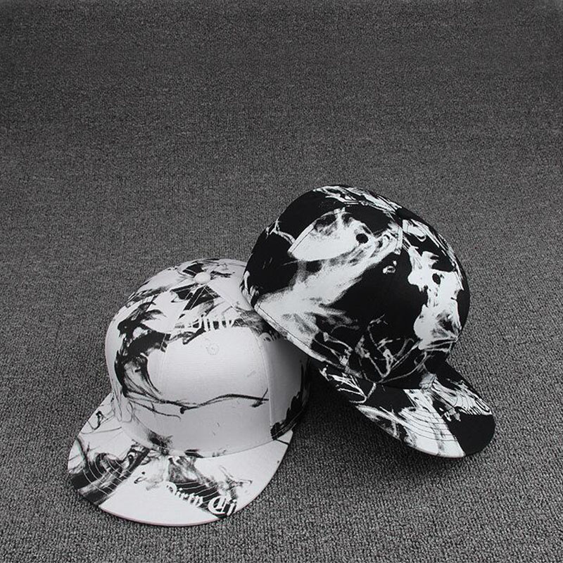 цена на oZyc new 3D Fashion print Baseball Caps Retro Gorras Hats Planas Chapeau Flat Bill Hip Hop Snapbacks Caps For Men Women Unisex