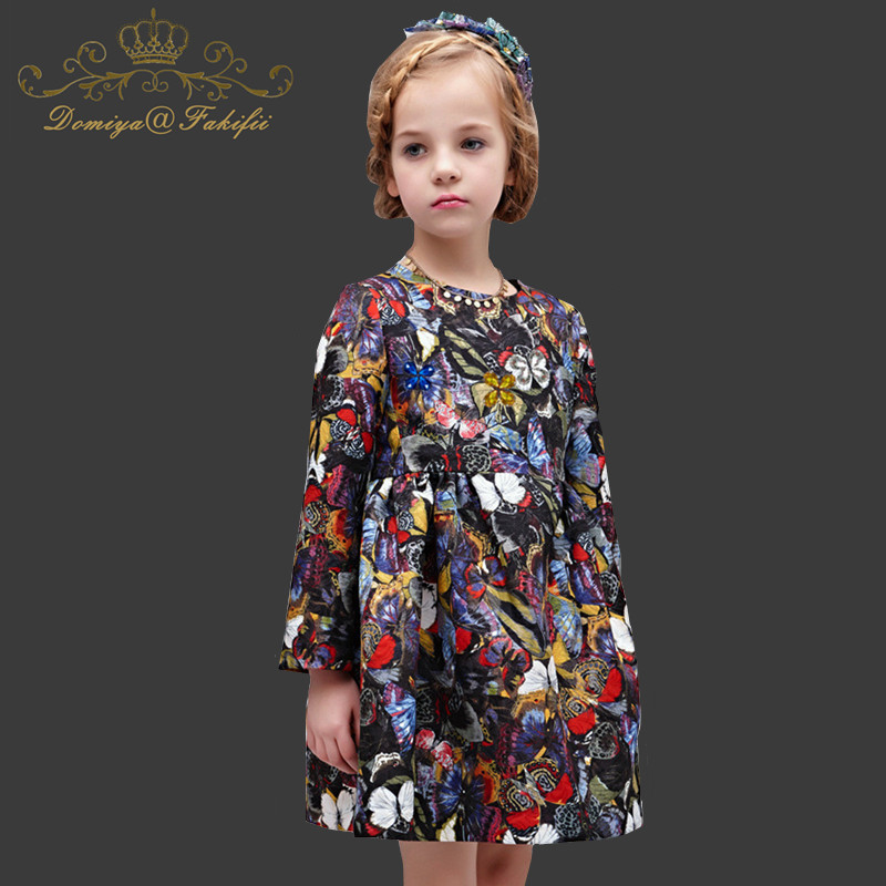 Girl Princess Dress Wedding Gown Long Winter 2018 Brand Flower Birthday Floral Party Dresses Vestidos Toddler Robe Fille Mariage girl dress princess floral autumn long sleeve gown party dresses kids clothes bow flower robe fille rapunzel kids dress 12 year