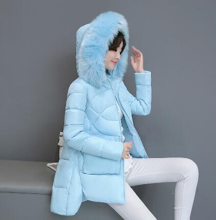 Maternity Winter Coat Fashion Women Faux Fur Hood Outwear Pregnant Snow Wear Parka Winter Maternity Thick Cotton-Padded Jacket women s new winter quilted jacket chunky puffer coat full zip spliced sweater hood padded outwear with knit sleeve