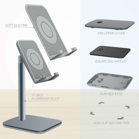"Vogek Universal Desk Phone Holder for for iPhone XS Max XR Desktop Holder Stand Mount for iPad Smartphone Tablet 7-10"" Lahore"