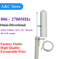 806 2700MHz Omni Fiberglass Antenna for GSM CDMA PCS 3G WLAN 4G LTE system Cell Phone Signal Booster Repeater SMA or N Female