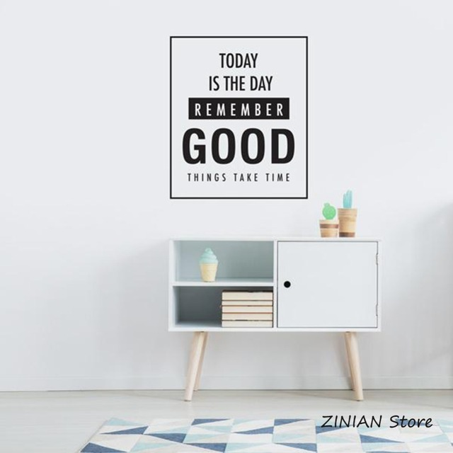 Good Things Takes Time Wall Stickers Home Decor Bedroom Removable Vinyl Decal For Office Art