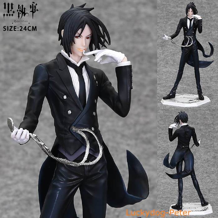 Black Butler Action Figure Sebastian Michaelis Doll 1/8 scale painted figure PVC ACGN Toys Brinquedos Anime - Luckydog-Peter store