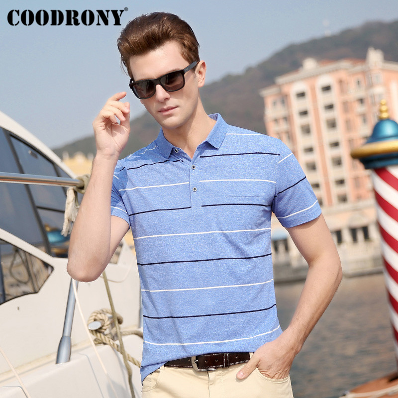 COODRONY Summer Streetwear Casual Men 39 s T Shirts Soft Cotton T Shirt Men Striped Short Sleeve Pocket T Shirt Men Clothing S95059 in T Shirts from Men 39 s Clothing