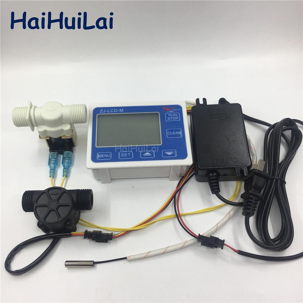 ZJ LCD M controller temperature sensor 1 2 flow sensor Valve Power supply for water liquid
