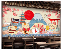 beibehang Fashion classic decorative painting wall paper Japanese style beauty food background 3d wallpaper