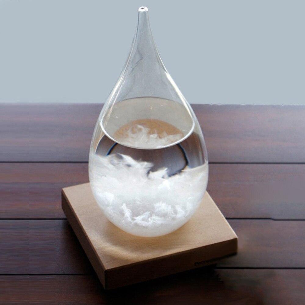 65x115 мм прозрачная капелька штормовое стекло Капля воды погода шторм прогноз монитор барометр бутылка домашний декор