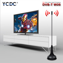 YCDC High Quality 5dBi Digital Antenna Aerial Digital Freeview For DVB-T TV HDTV With Magnetic Base Black Color