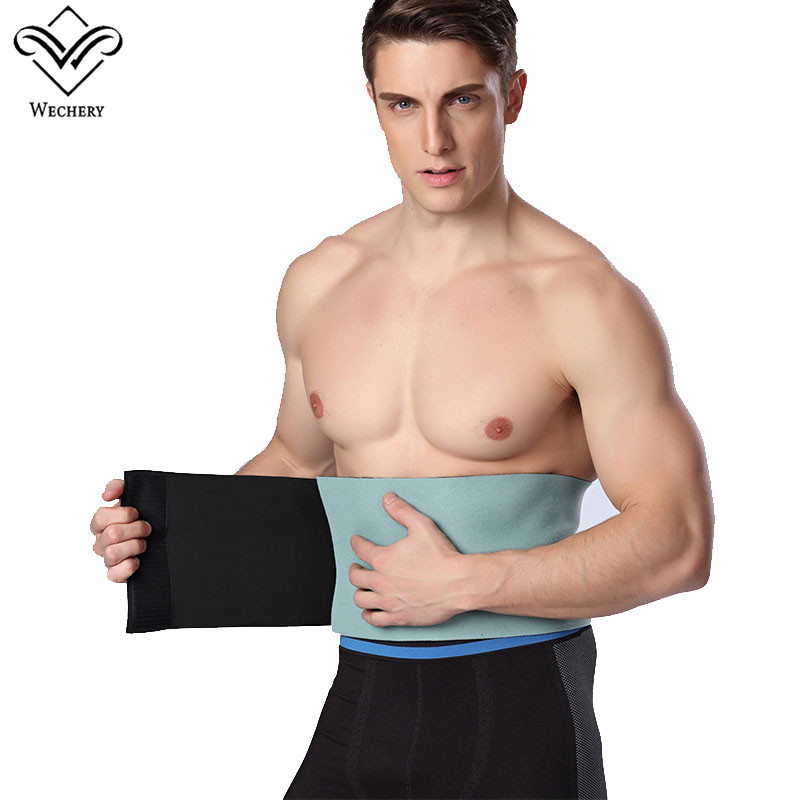 Wechery Slimming Belt Belly Men Body Shaper Man Corset Abdomen Tummy Cinta Modeladora Masculina Shaperwear Waist Trainer Cincher
