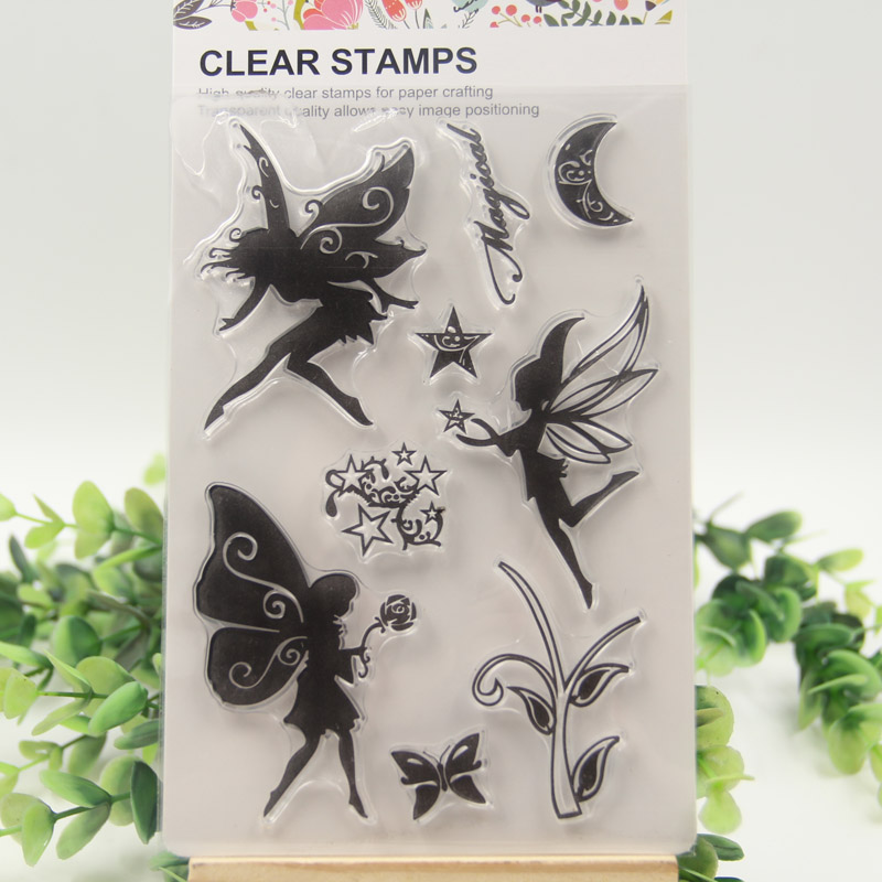 1 sheet DIY Fairy Design Transparent Clear Rubber Stamp Seal Paper Craft Scrapbooking Decoration 1 sheet diy label symbol candle transparent clear rubber stamp seal paper craft scrapbooking decoration