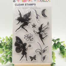 1 sheet DIY Fairy Design Transparent Clear Rubber Stamp Seal Paper Craft Scrapbooking Decoration