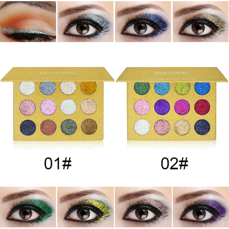 Professional Long Lasting Shimmer Eyeshadow Palette Glitter Eyeshadow Palette Glitter Powder Makeup Palette
