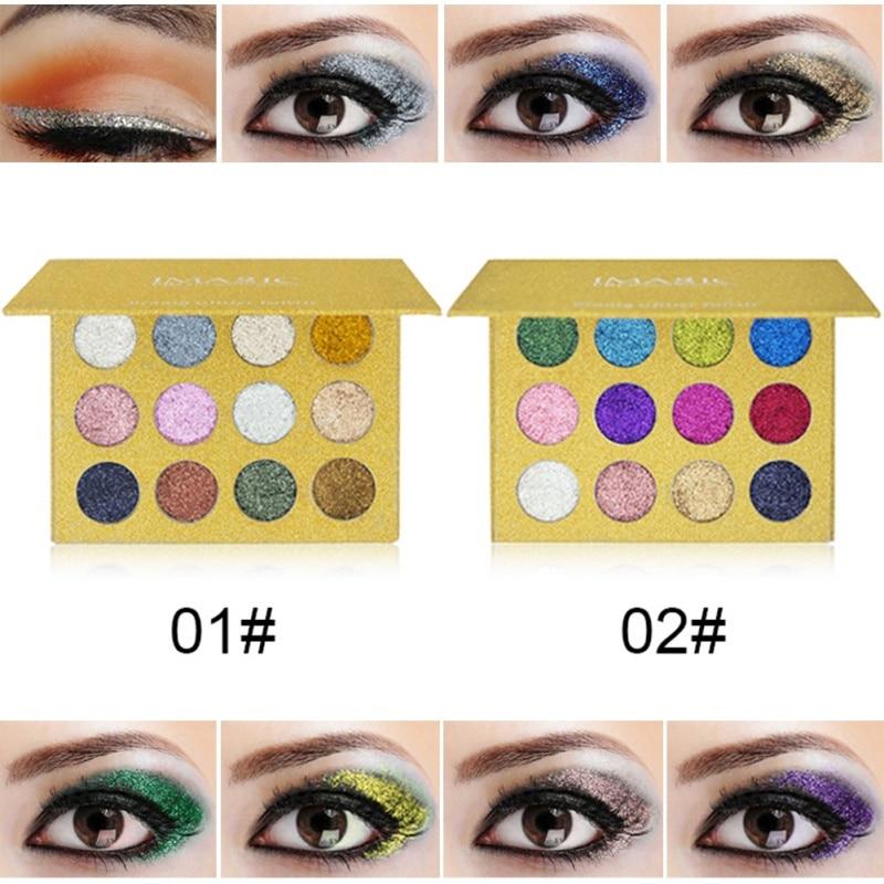 Professionale di Lunga Durata Shimmer Eyeshadow Palette 2017 NEW Glitter Eyeshadow Palette Glitter Powder Makeup Palette