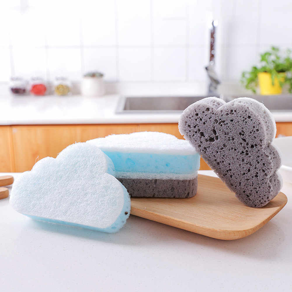 Cloud Shape Sponge Brush gray blue Household Cleaning Tools Decontamination Magic Rubbing kitchen bathroom window cleaner tool