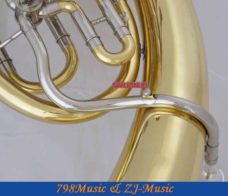 Золотой 4 поворотный клапан euphonium белый медный цилиндр с чехлом