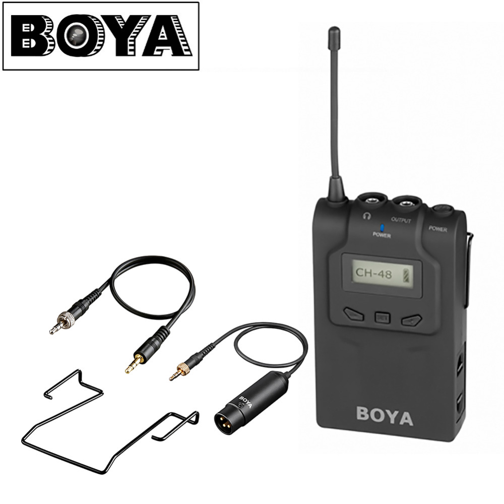 BOYA BY-WM6R Microphone Wireless Bodypack Receiver for Receiver A BY-WXLR8 BY-WHM8 BY-WM6 Transmitter BY-WM8T Ccamcorder Camera
